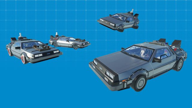 Back to the Future™ Time Machine Construction Kit blueprint