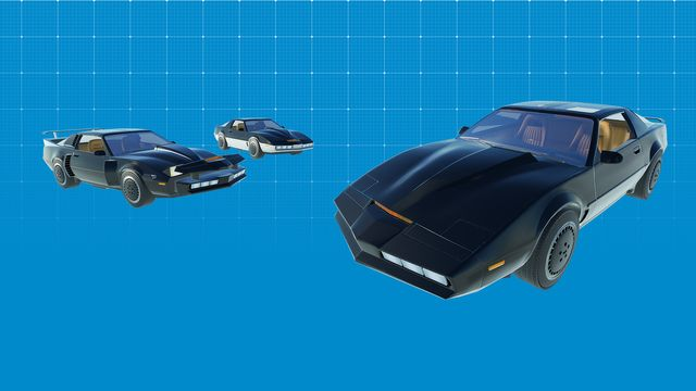 Knight Rider™ K.I.T.T. Construction Kit blueprint